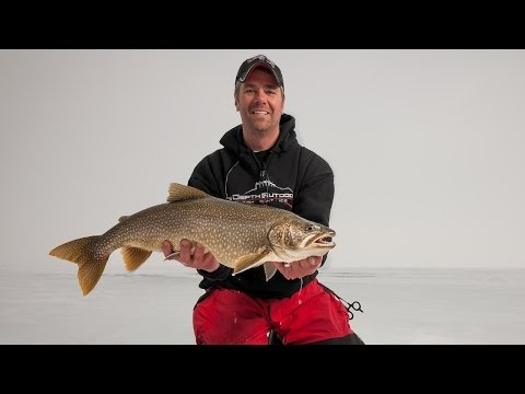 Ice Fishing Lake Trout near Duluth, MN - In-Depth Outdoors TV Season 8, Episode 17