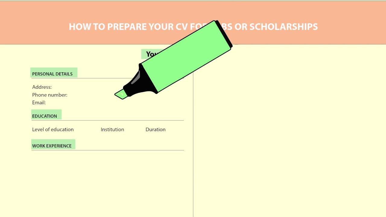 how to prepare your cv how to prepare your cv