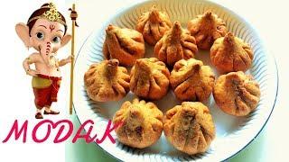 गणपति बप्पा के सबसे प्रिय मोदक  गेहूं के आटे से| Modak Recipe|  Sangita's Kitchen