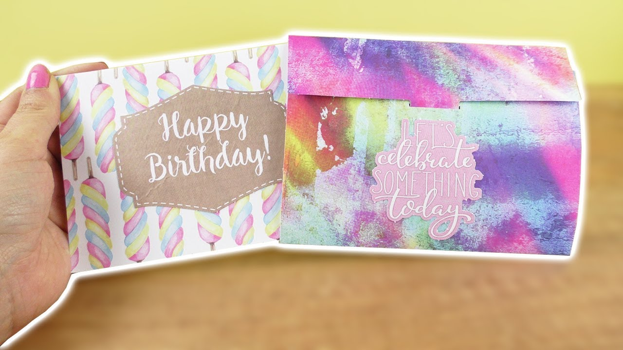Diy Geburtstagskarte Umschlag Coole Geschenk Idee Zum Selber