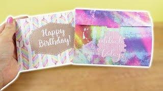 DIY Geburtstagskarte & Umschlag   Coole Geschenk Idee zum selber machen   Action Bastel Idee