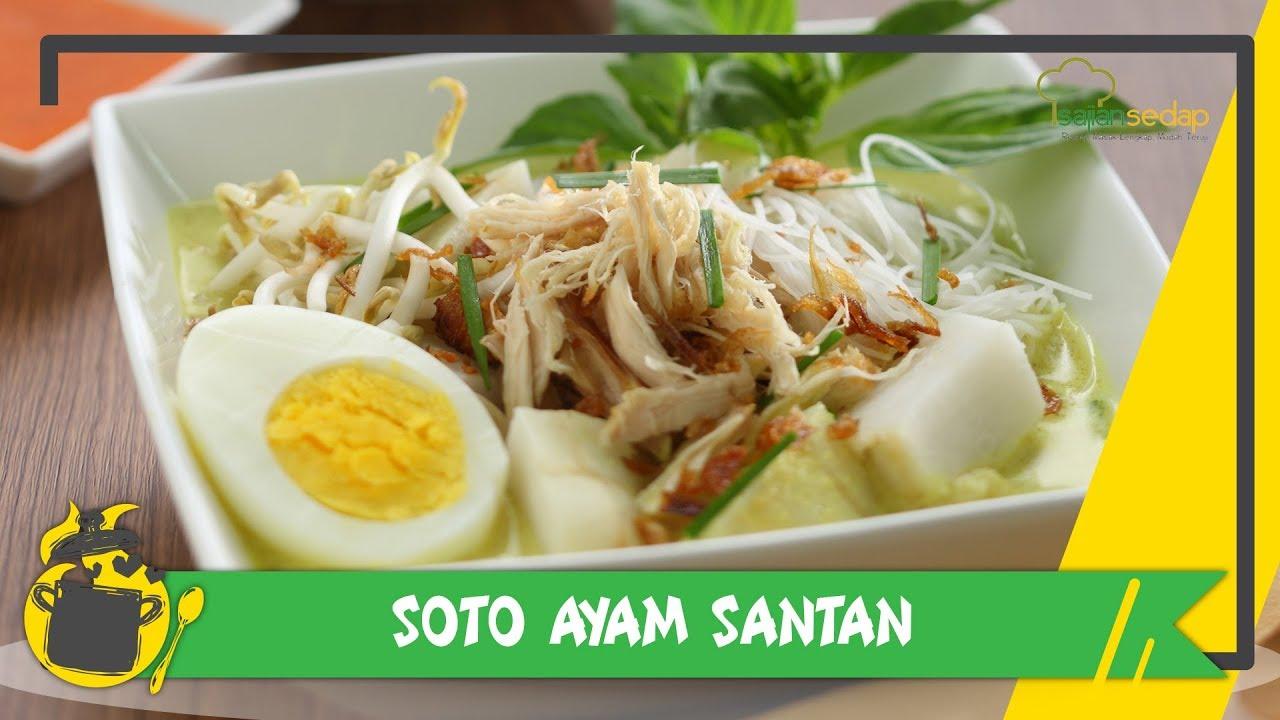 Resep Soto Ayam Santan untuk Makan Siang - YouTube