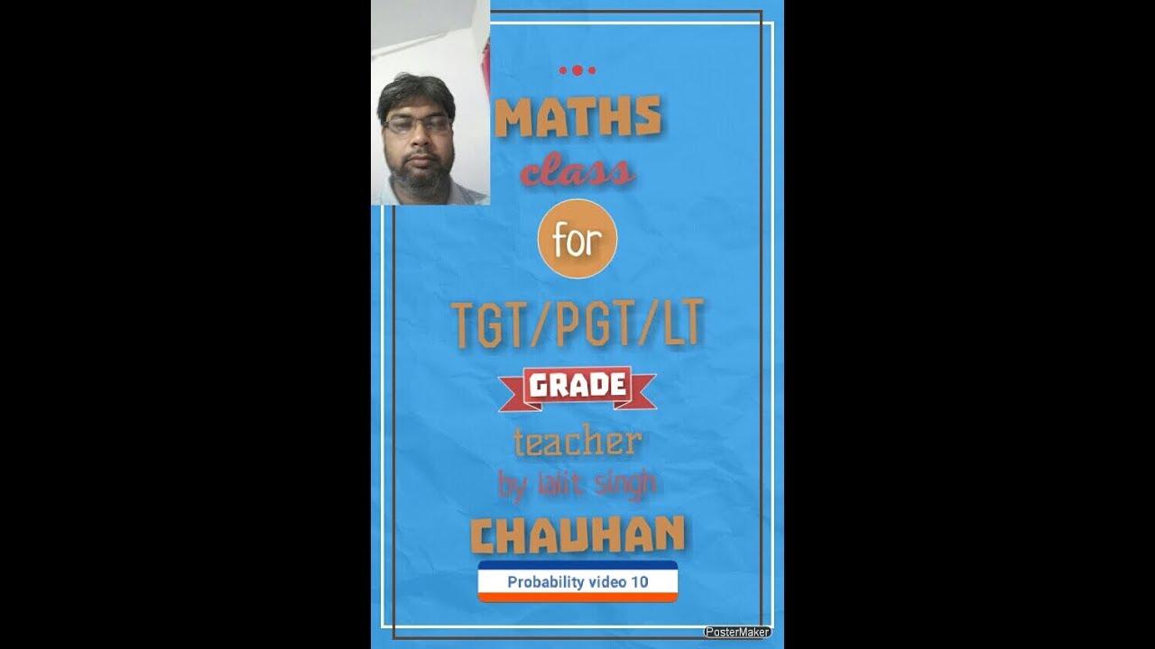Probability for tgt/pgt/lt grade teacher maths video 10 - YouTube