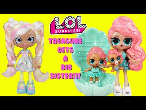 LOL SURPRISE Pearl Surprise Treasure Gets A Big Sister DIY Shopkins Shoppie Doll Makeover