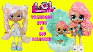 connectYoutube - LOL SURPRISE Pearl Surprise Treasure Gets A Big Sister DIY Shopkins Shoppie Doll Makeover