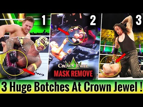3 Huge Botches/Mistakes At Crown Jewel ! Kane Mask REMOVED ! WWE Botches & Fails 2018 ! WWE Funny