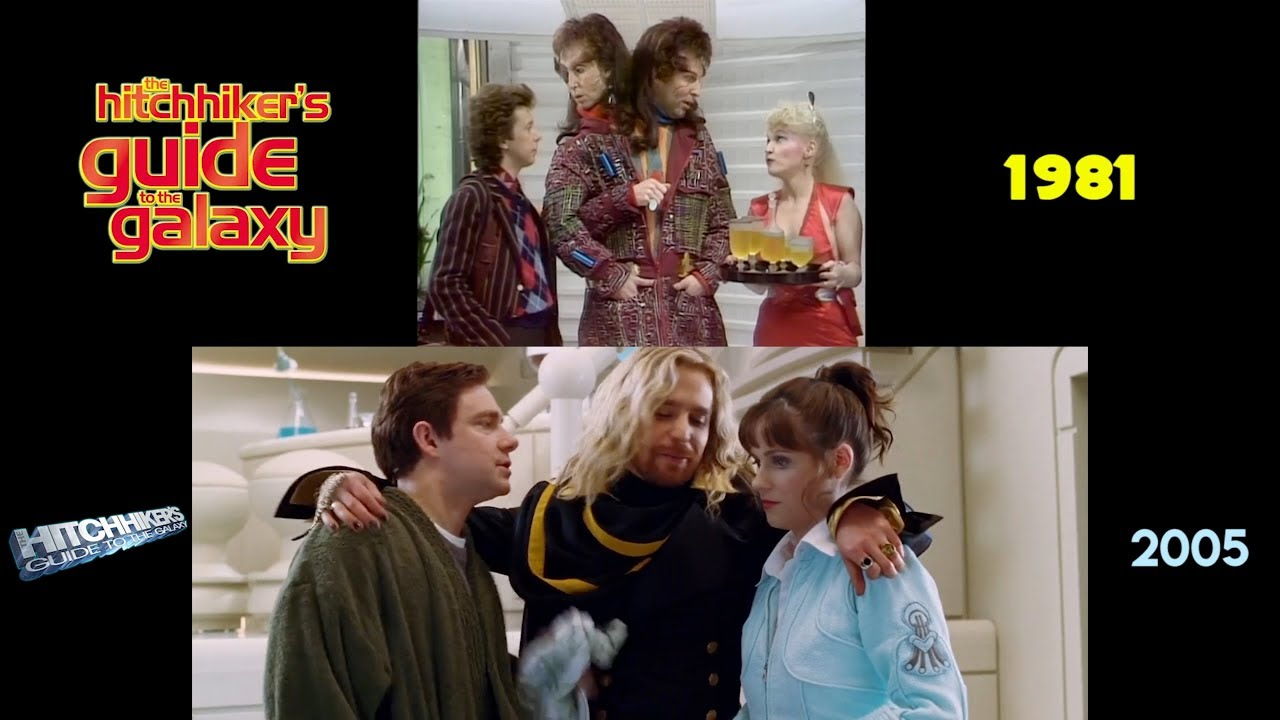 Download The Hitchhiker's Guide to the Galaxy (1981/2005): Side-by-Side Comparison