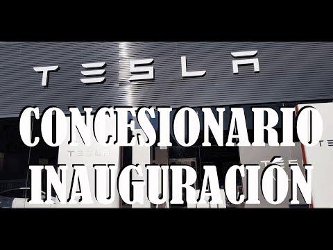 Inauguración Concesionario Tesla España