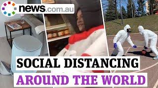 Coronavirus: Social distancing around the world