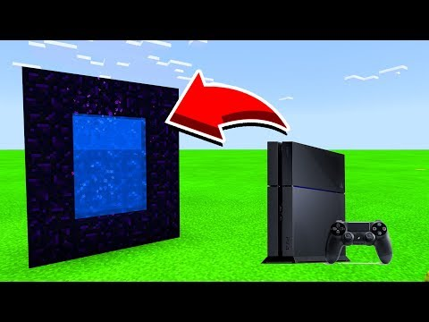 How To Make A Portal To PS4  In Minecaft Pocket Edition/MCPE