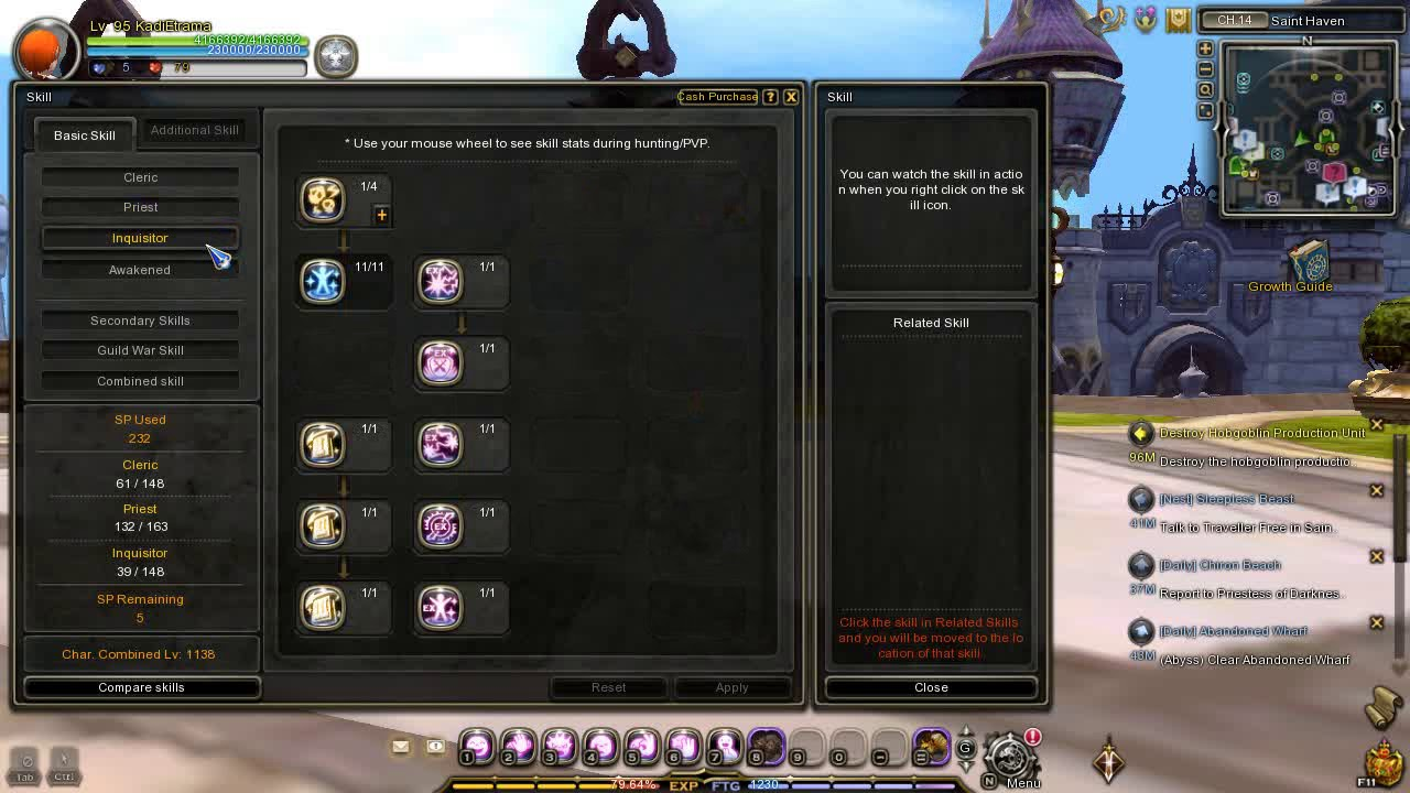Dragon Nest SEA - Inquisitor Lv 95 Skill Build Post REVAMPED UPDATED!