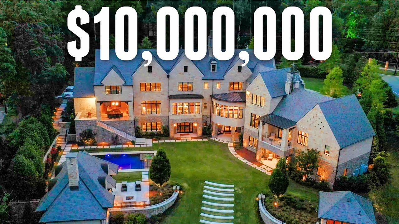 INSIDE a $10,500,000 Modern CASTLE   Mega Mansion Tour