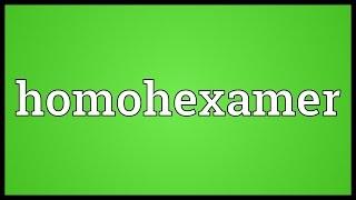 Homohexamer Meaning