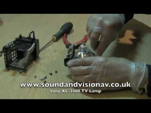 Sony XL2400 TV Lamp Replacement installation Video Guide - YouTube