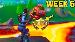 WEEK 5 SECRET BATTLE STAR LOCATION! (Fortnite Season 8 Week 5 Challenges)