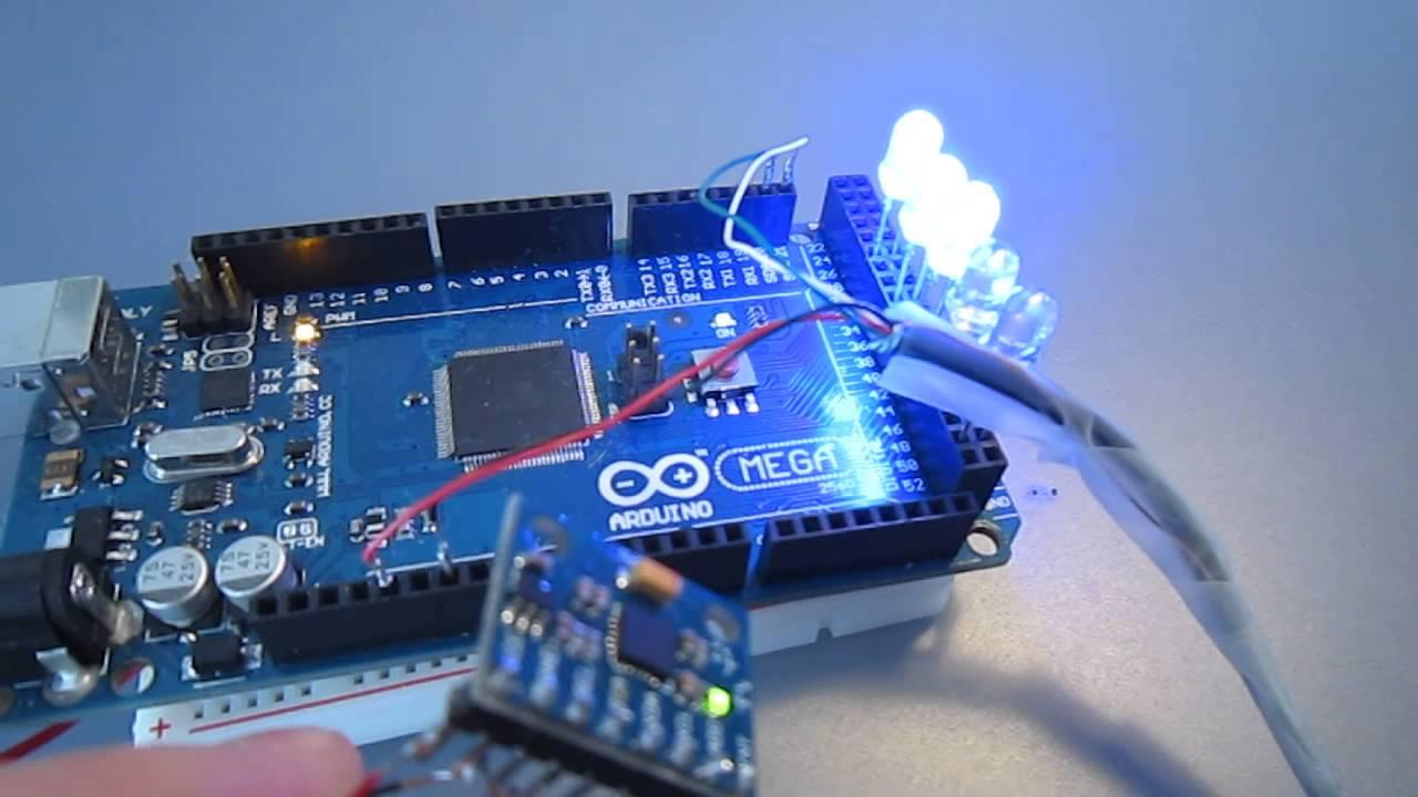 Arduino Mega 2560 + MPU 6050 - control LED with motion ...