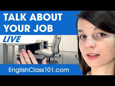 How to Talk about your Job in English - Basic English Phrases