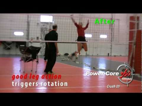 How to Hit Volleyball Harder and Improve Arm Swing - Leg Action Training at Club Practice