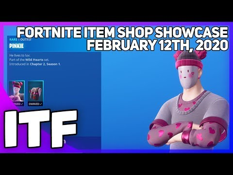 Fortnite Item Shop *NEW* PINKIE SKIN AND MORE! [February 12th, 2020] (Fortnite Battle Royale)