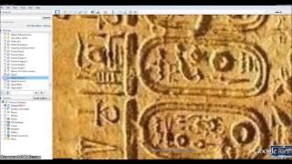 Illuminati Clown . The 5th Angel on Egyptian Glyphs.