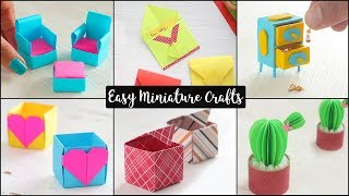 6 Easy Miniature Craft Ideas | DIY Miniatures