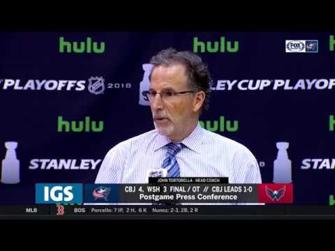 John Tortorella postgame after Blue Jackets' overtime win over Capitals | STANLEY CUP PLAYOFFS