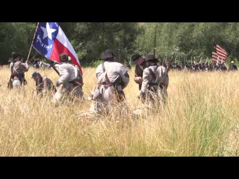 Battle at Fulbright Park Civil War Reenactment 2016, Union Gap, Washington Battle Video 1