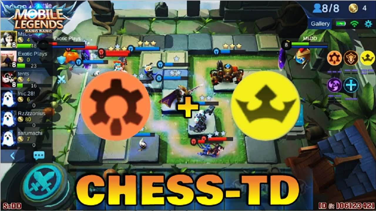 cyborg and empire build - chess td gameplay | mobile legends bang bang