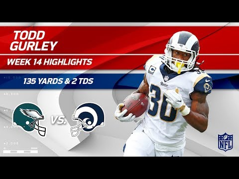 Todd Gurleys 2 TDs & 135 Total Yards vs Philly!  Eagles vs Rams  Wk 14 Player Highlights
