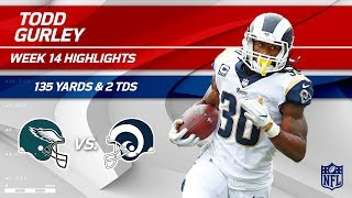 Todd Gurley's 2 TDs & 135 Total Yards vs. Philly! | Eagles vs. Rams | Wk 14 Player Highlights