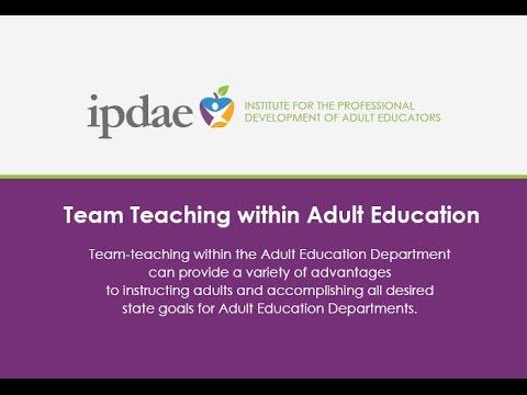 Team Teaching within Adult Education - (Webinar)