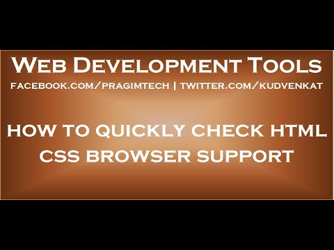 Check Html Css Browser Support