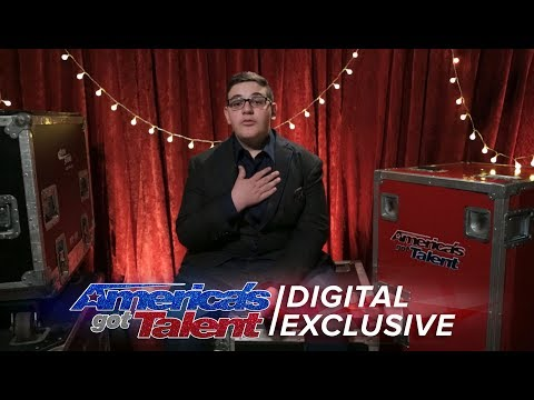 Christian Guardino Thanks Howie for the Golden Buzzer - America's Got Talent 2017
