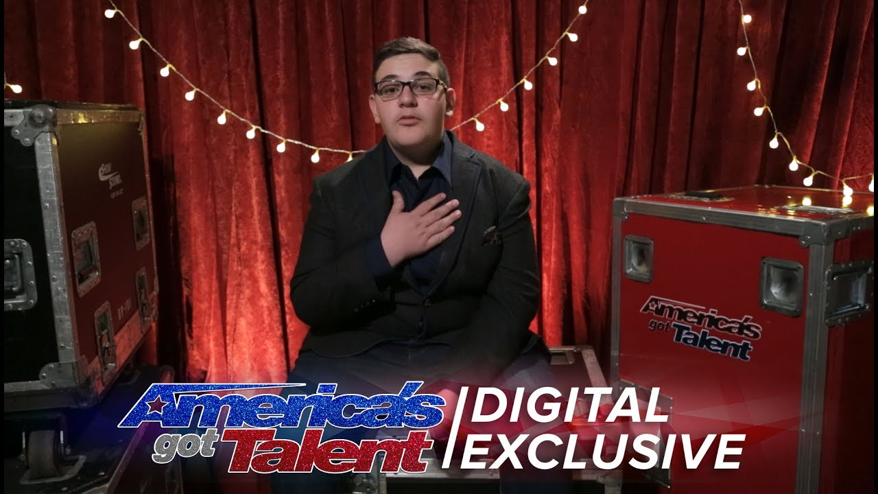 Christian Guardino Thanks Howie for the Golden Buzzer America's Got Talent 2017