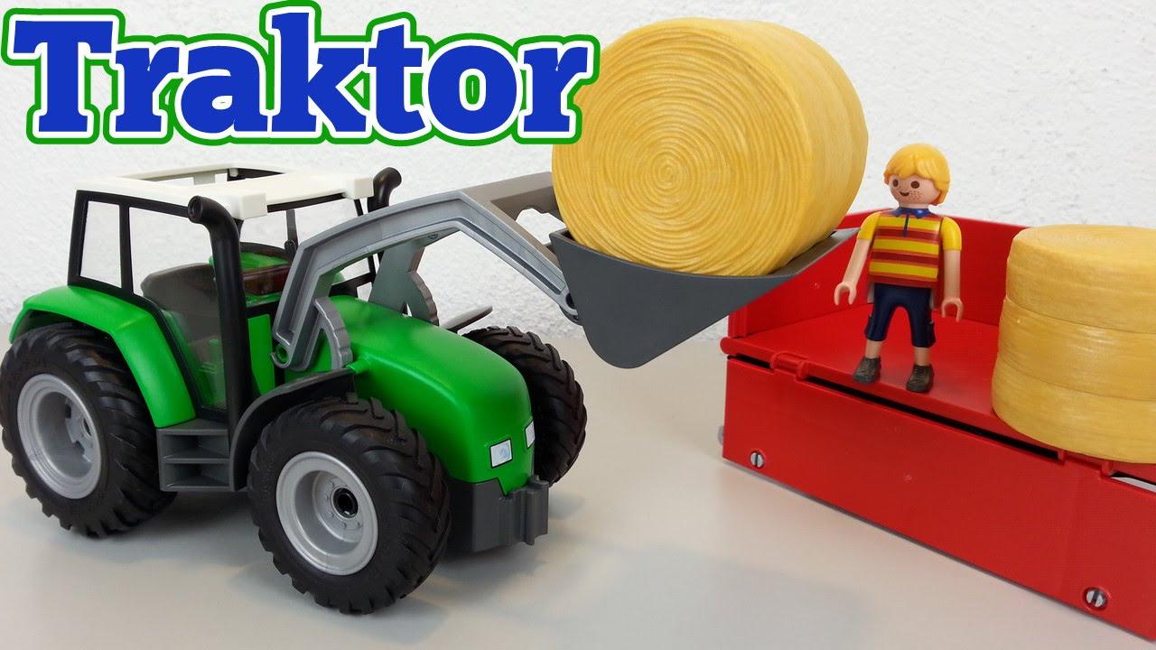 Playmobil großer traktor mit anhänger auspacken seratus