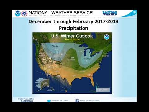 Winter 2017-2018 Outlook for northern and eastern Maine