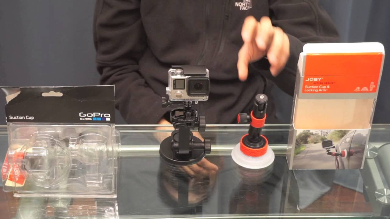 JOBY Suction Cup with Locking Arm for GoPro// Contour /& Sony Action Video Cameras