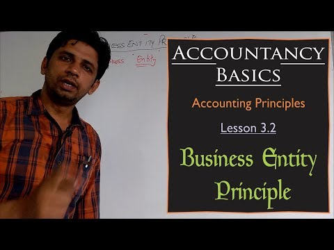 Accounting | Accounting Principles | Lesson 3.2 | Business Entity Principle