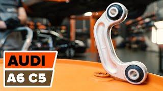 Wskazówki do wymiany Drążek wspornik stabilizator AUDI