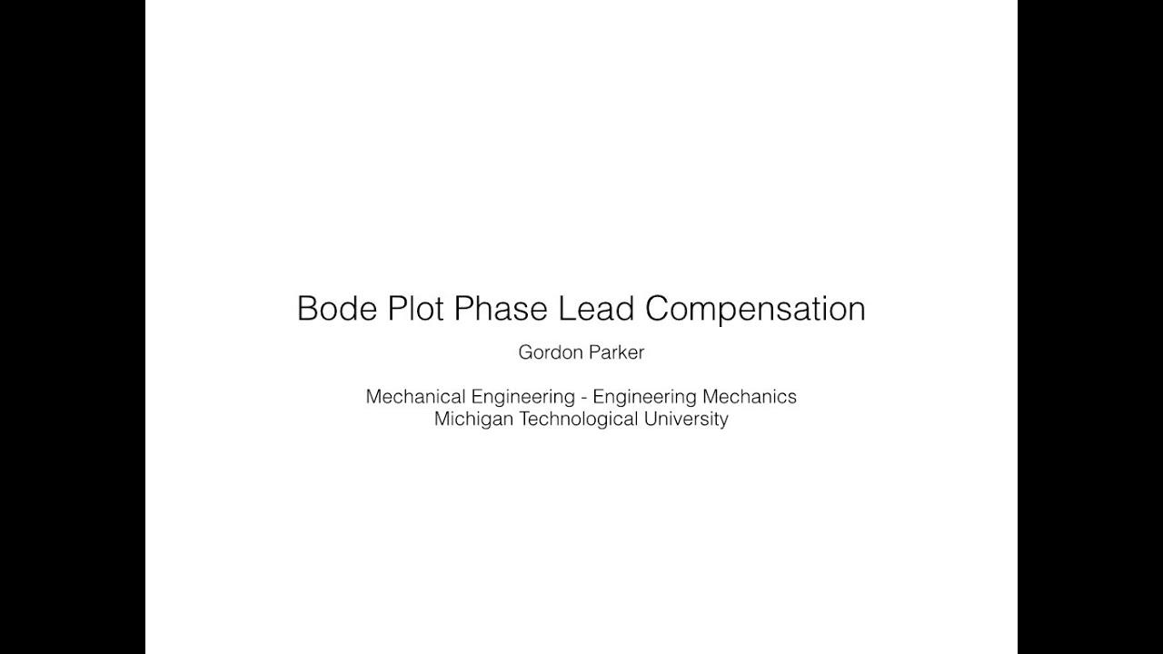 Bode Plot Phase Lead Compensation
