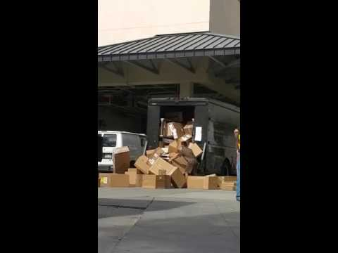 UPS driver throwing a fit