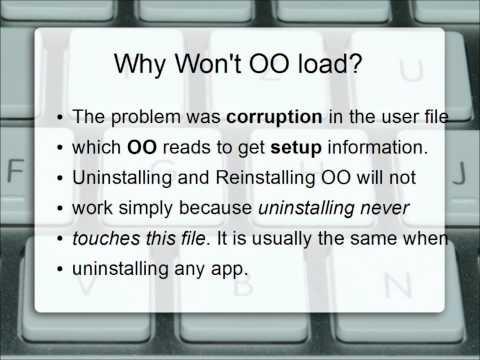 OpenOffice error. Fix it Now