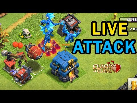 🔴Live Town Hall 12 Attacks