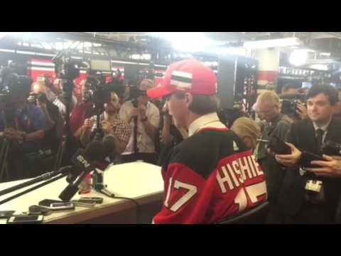 Nico Hischier 2017 NHL Draft Press Conference -- New Jersey Devils