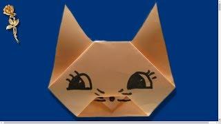 Origami facile : Tête de Chat