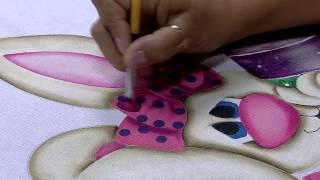 Pintura em tecido de coelho