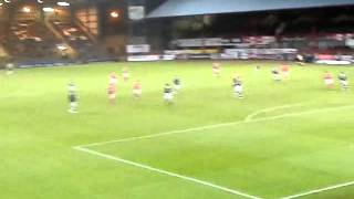 Aberdeen fans at dens park