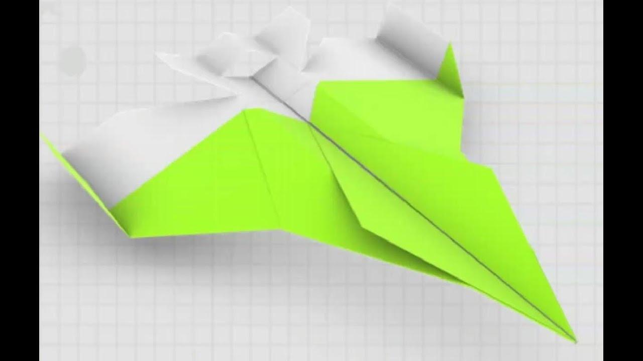 F 16 Falcon Paper Plane