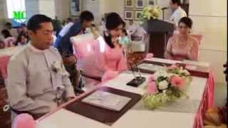 Repeat youtube video Signing Wedding Certificate Ceremony of Melody & Thar Kaung
