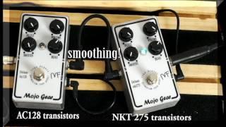 Mojo Fuzz Deluxe AC128 vs NKT275 germanium transistors by Mojo Gear